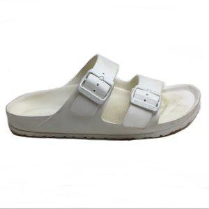 Birkenstock Arizona EVA 2 Strap White Sandal Sz 38